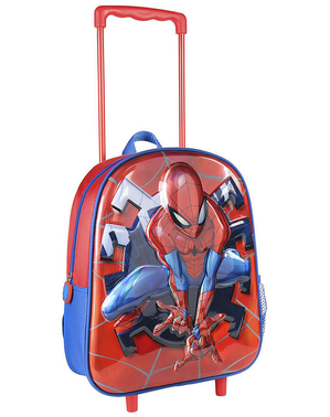 Spiderman 3D Metallic Trolley Backpack