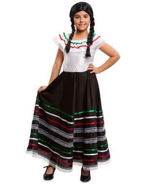 Fato de mexicana Frida Kahlo para menina