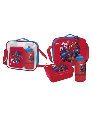 Pudełko śniadaniowe + akcesoria Spiderman