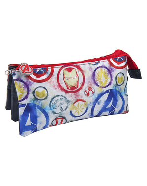 The Avengers Pencil Case with 3 Compartments - Marvel