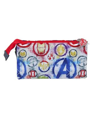 Estojo The Avengers com três compartimentos - Marvel