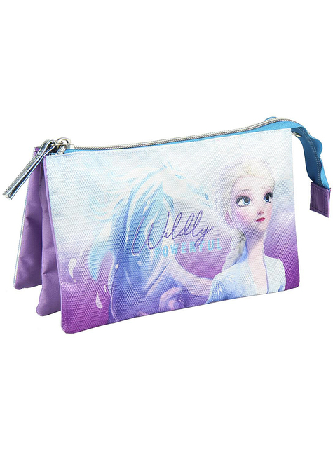 Estuche de Elsa Frozen 2 con tres compartimentos - Disney