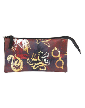 Estuche de Harry Potter con tres compartimentos estampado