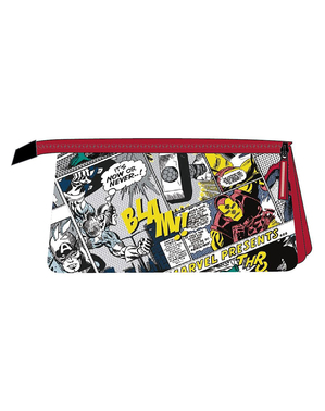 Marvel Pencil Case with 3 Compartments