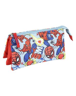 Spiderman Pennal med 3 lommer