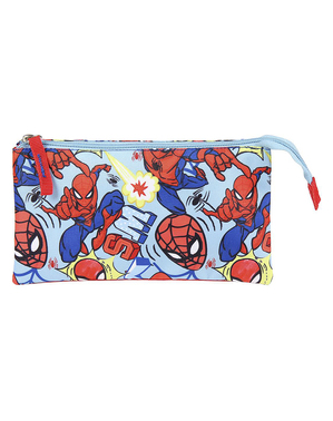 Spiderman Pencil Case with 3 Compartments