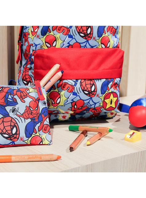 Estuche de Spiderman con tres compartimentos