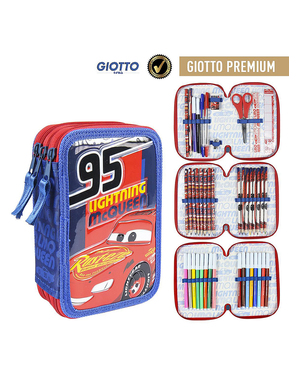 Cars 3 Pencil Case with 3 Compartments - Disney