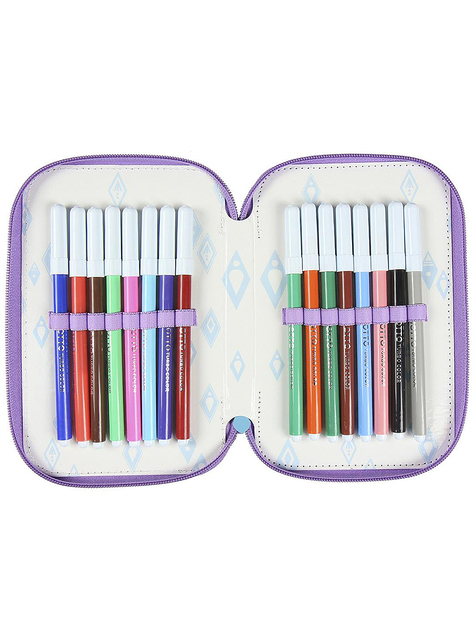 Frozen 2 Pencil Case with 3 Compartments - Disney