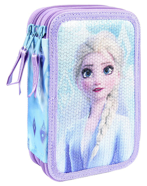 Estuche de 3 cremalleras de Elsa Frozen 2 - Disney