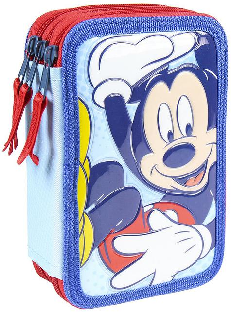 Estuche de 3 cremalleras de Mickey Mouse - Disney