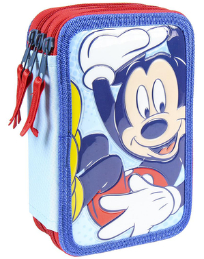 Mickey Mouse Pencil Case with 3 Compartments - Disney