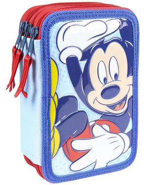 Mikke Mus Pennal med 3 lommer - Disney