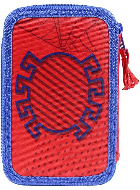 Estuche de 3 cremalleras de Spiderman