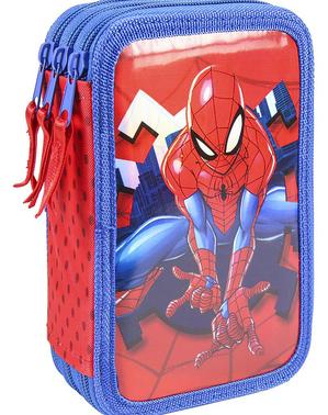 3つのコンパートメントスパイダーマン鉛筆ケース