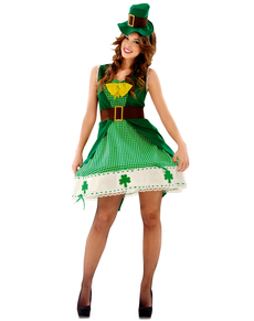 Disfraz de leprechaun irlandesa para mujer