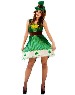 Costum de leprechaun irlandez pentru femeie