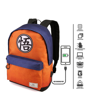 Dragon Ball Rucksack blau-orange