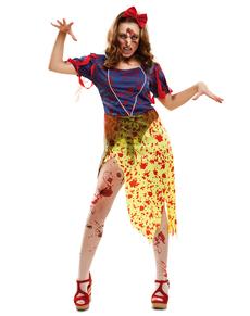 Zombie Snø Prinsesse Kostyme Dame