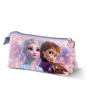 Frozen 2 Pencil Case with Three Compartments