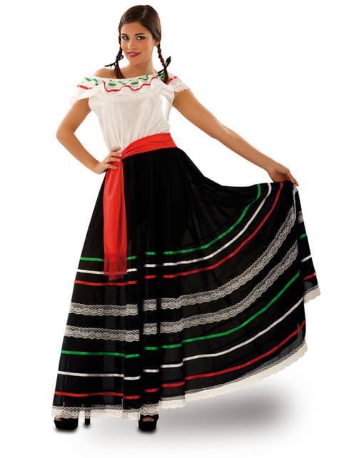 Fato de mexicana de cantina para mulher
