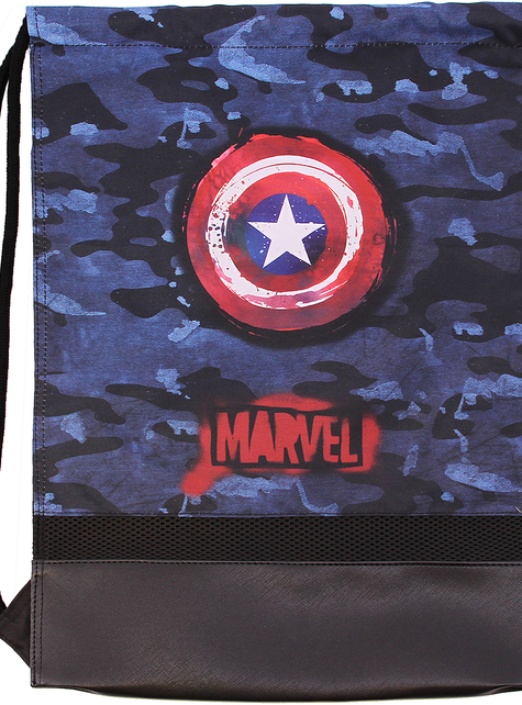 Captain America Camouflage Drawstring Backpack - The Avengers
