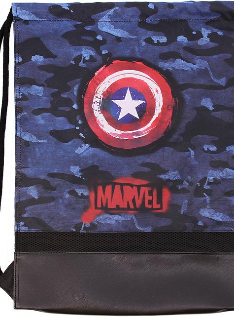 Sac à dos cordons Captain America camouflage - Avengers