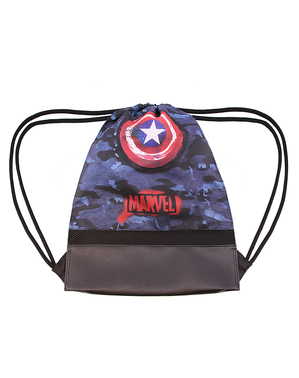 Captain America Kordelzug Rucksack Tarnfarbe - Marvel´s The Avengers