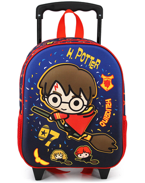Sac à dos à roulettes 3D Harry Potter Quidditch enfant