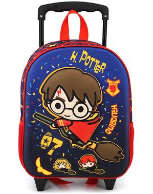 Sac à dos à roulettes 3D Harry Potter Quidditch enfant