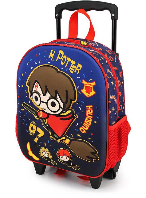 Mochila con ruedas 3D Harry Potter Quidditch infantil