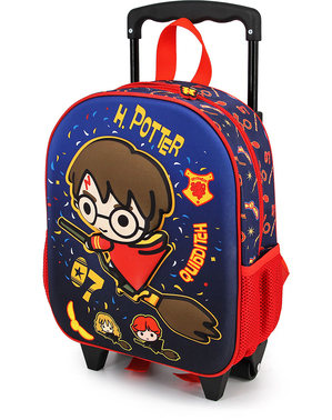 3D Harry Potter Quidditch Trolley Backpack for Kids