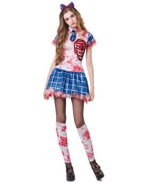 Déguisement étudiante zombie femme