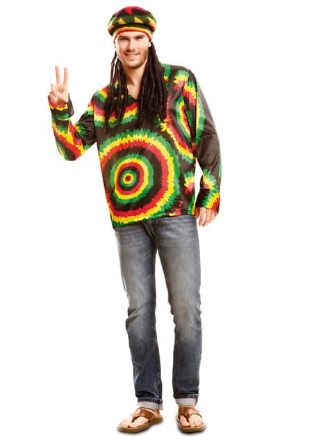 Fato de jamaicano hippie para homem