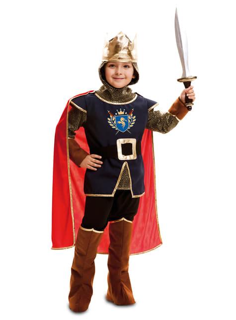 Fato rei medieval para menino