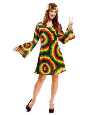 Déguisement jamaïcaine hippier femme