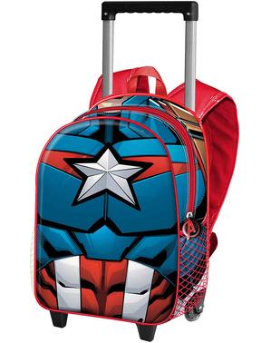 Mochila com rodas de Capitão América infantil - Os Vingadores