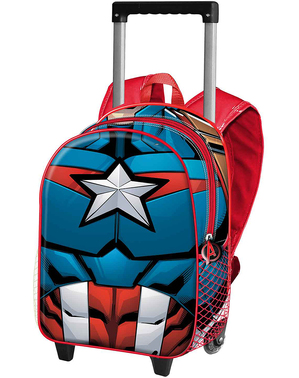 Zaino trolley con ruote Capitan America per bambini - The Avengers