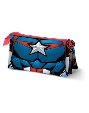 Estojo de Capitão América com três compartimentos - Os Vingadores