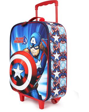 Mala Capitão América infantil - Os Vingadores