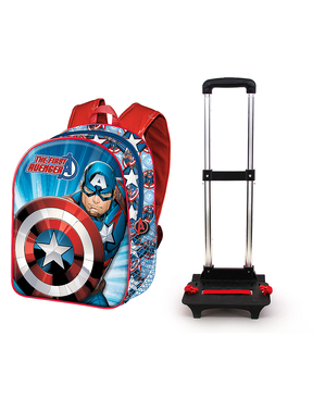 Captain America Trolley-rugzak voor kinderen - The Avengers Captain America Trolley-rugzak - The Avengers