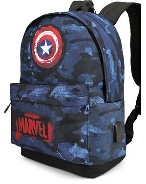 Mochila de Capitão América camuflagem - Os Vingadores
