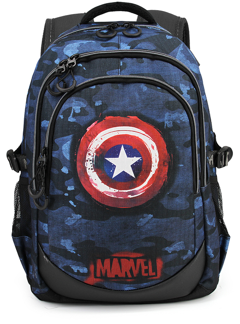 Captain America Blue Camouflage Backpack - The Avengers