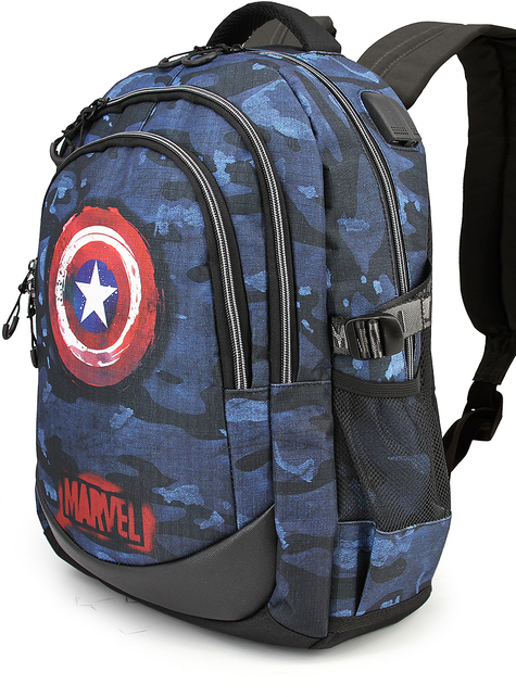 Mochila de Capitán América camuflaje azul - Los Vengadores