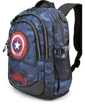 Mochila de Capitão América camuflagem azul - Os Vingadores