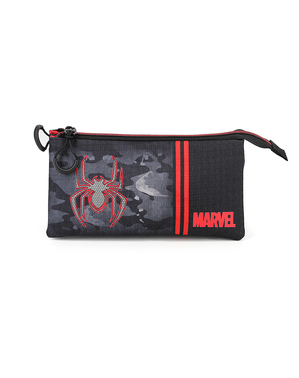Spiderman Pencil Case with Three Compartments - Marvel