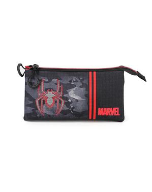 Spiderman Pennal med Tre Oppbevaringsrom - Marvel