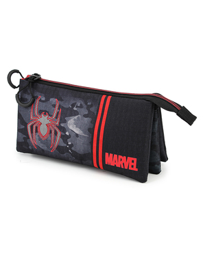 Estuche de Spiderman con tres compartimentos - Marvel