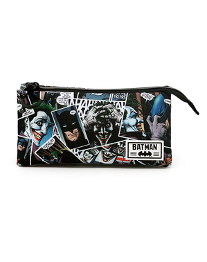 Joker Pencil Case with Three Compartments