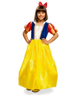 Costum Alba ca Zăpada prințesă pentru fete